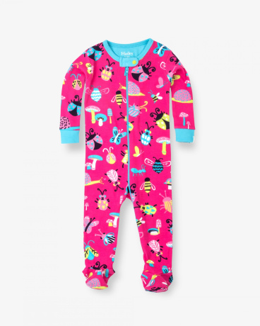 Cute Bugs Organic Cotton Baby Footed Coverall