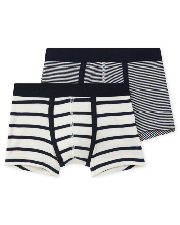 Set of 2 boy's striped boxers