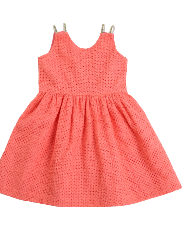 Sleeveless Eyelet Party Dress