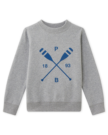 Boy's sweatshirt with message