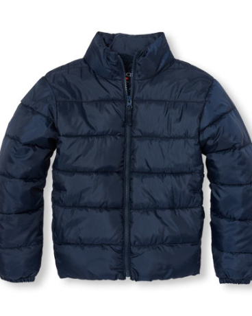 Boys Long Sleeve Lightweight Puffer Jacket