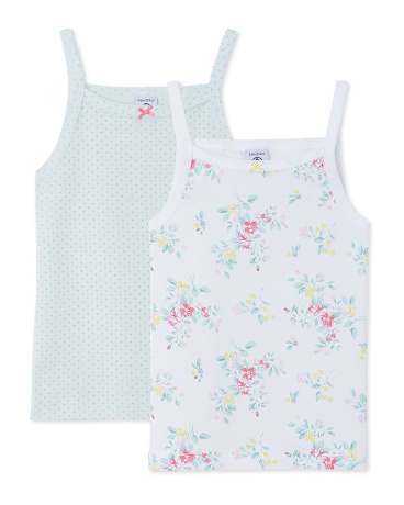 Pack of 2 girl's strap vests