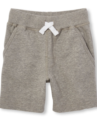 Toddler Boys Uniform Solid Knit Shorts