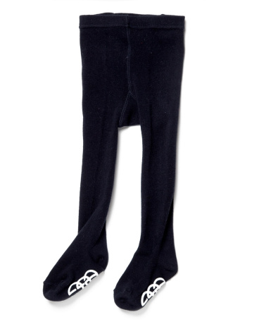 Classic Navy Footed Cotton Tights