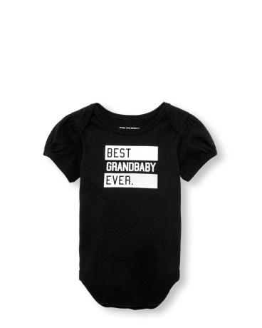 Baby Girls Short Sleeve 'Best Grandbaby Ever' Matching Family Graphic  Bodysuit