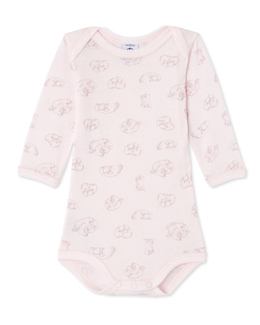 Baby girl's printed long-sleeved bodysuit