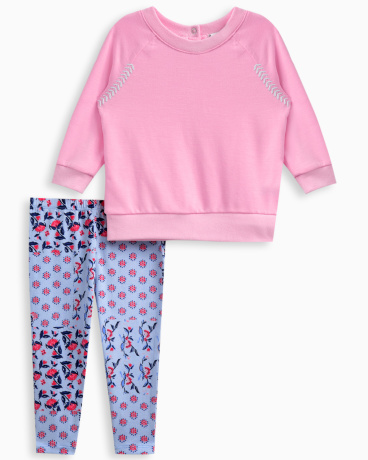 Baby Girl Whipstitch Pullover Legging