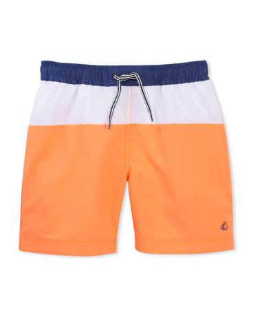 Boys' tricolor swim shorts