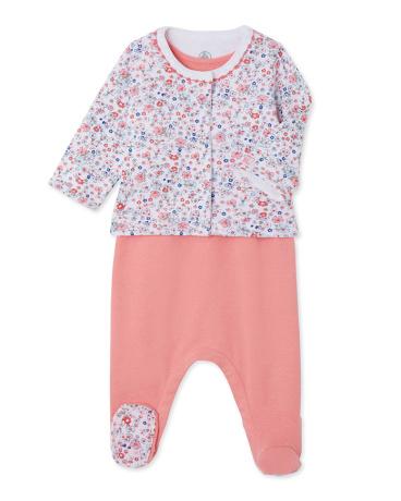 Baby girl sleepsuit and cardigan set