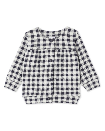 Baby girl's gingham cardigan