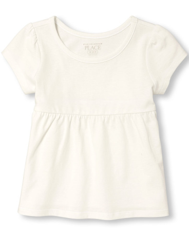 Toddler Girls Short Sleeve Basic Tee