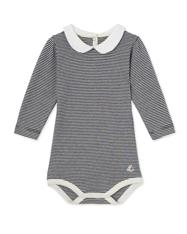 Baby girl's milleraies striped bodysuit