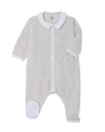 Baby velour sleepsuit