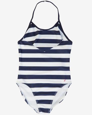 Little Girls' Striped One-Piece Swimsuit (2T-7)