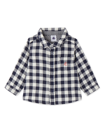 Baby boy's gingham shirt