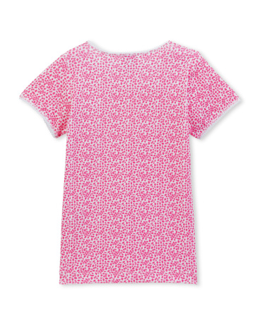 Girl's floral print t-shirt in Lycra jersey