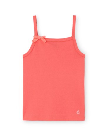 Girl's camisole top with spaghetti straps