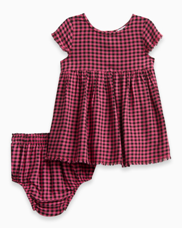 Baby Girl Plaid Swing Dress