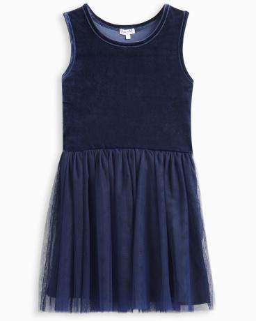 Girl Velour with Triple Mesh Dress