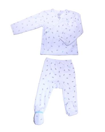 Grey Peanut Jersey Kimono Set