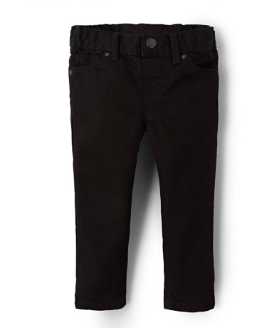 Toddler Girls Basic Skinny Jeans - Black Wash