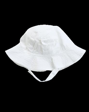 Classic White Cotton Sun Hat