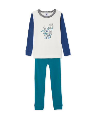 Boys' placement print pyjamas