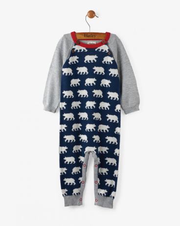 Polar Bear Herd Baby Sweater Romper