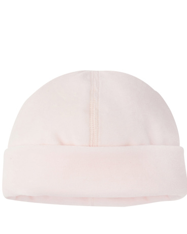 Newborn baby velour hat