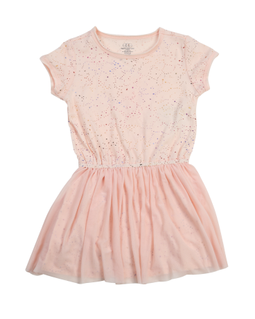 Girls Jersey Tulle Combo Dress