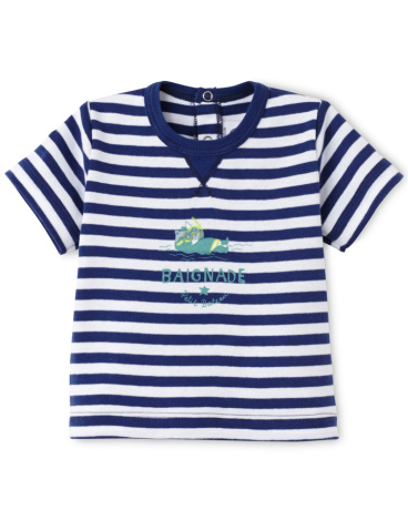 Baby boy striped tee
