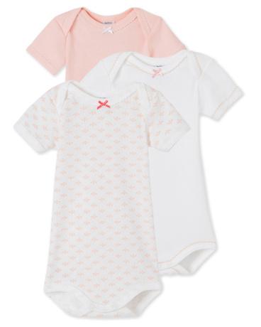Pack of 3 baby girl bodysuits