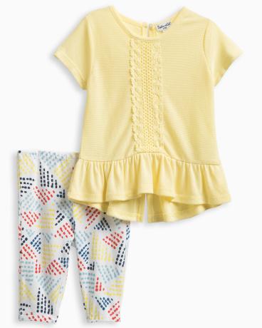 Baby Girl Flounce Top with Crochet Set