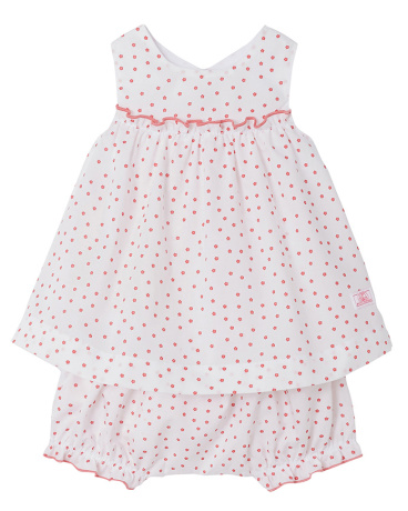 Baby girl printed dress and bloomers
