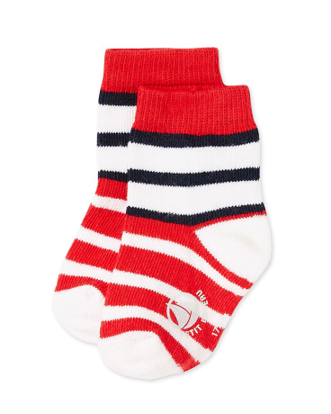 Baby boys' striped socks