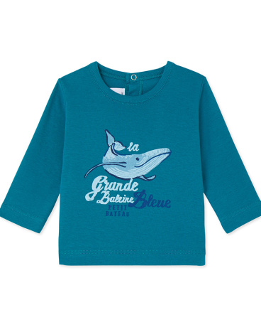 Baby boys' long-sleeved T-shirt with motif