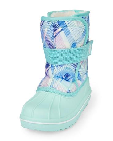 Girls Plaid Snowboot