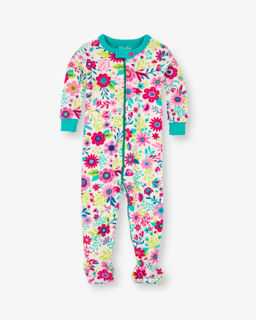 Flowers Baby Organic Cotton Footed Coverall