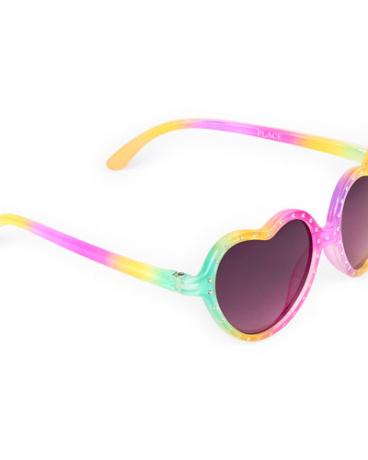 Toddler Girls Embellished Heart Sunglasses