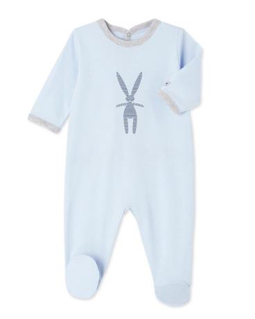 Baby boy's silkscreen print sleeper