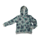 Tropical Print French Terry Zip Hoodie