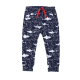 Graphic Shark Print Jersey Pants