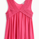Girl V Neck Tank with Lace Trim