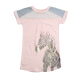 Peach Zebra Graphic Print T-Shirt Dress