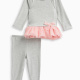 Baby Girl French Terry with Tulle Tunic and Pant Set