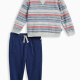 Baby Boy Reverse Print Brushed French Terry Set