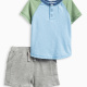 Baby Boy Baseball Tee Short Set