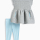 Baby Girl Quilt Knit Dress Set