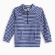 Little Boy Reverse Stripe French Terry Pullover