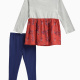Little Girl Jersey Printed Rayon Top and Pant Set